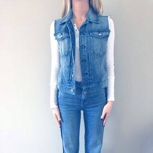 7 For All Mankind Cut-off Denim Vest